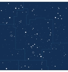 Abstract night sky with stars cosmic background vector image