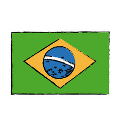 Brazil national flag insignia nation image vector