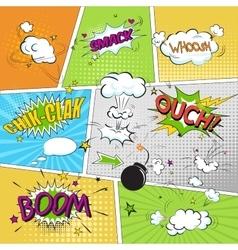 Comic colored speech bubbles in pop art style vs vector image