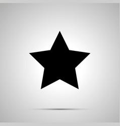 cute star simple black icon vector image