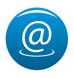 email address icon blue vector image