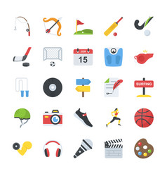 Flat icons activity pack vector