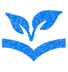 Flora knowledge icon grunge watermark vector