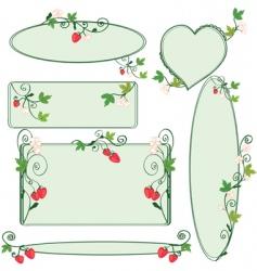 floral ornate frames se vector image