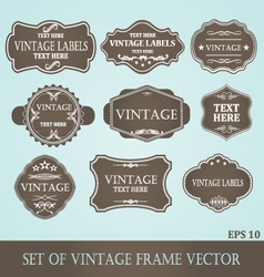 Frames label vintage vector