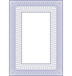 guilloche vector frame vector image vector image