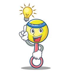 Have an idea rattle toy mascot cartoon vector