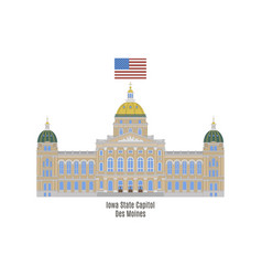 Iowa state capitol vector