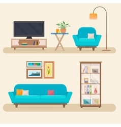 Living room with furniture vector image