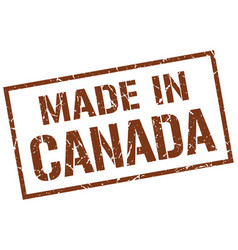 Made in canada stamp vector