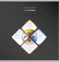 Rectangle presentation gold bronze silver vector