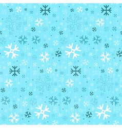 Retro Seamless Blue Winter Background with vector image vector image