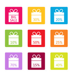 Sale best offer discount boxes vector