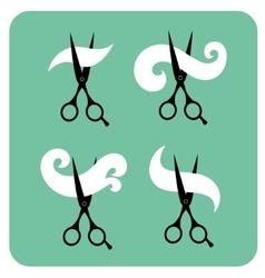 Set of vintage labels for hairdresser and barber vector image vector image
