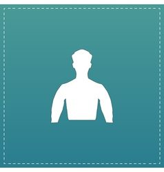 Silhouette man flat icon vector
