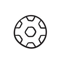 Soccer ball sketch icon vector