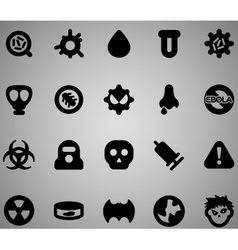 Virus icon set vector