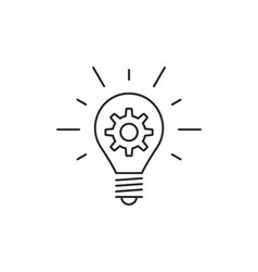Idea icon outline vector
