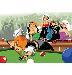 Cartoon billiards pool game vector