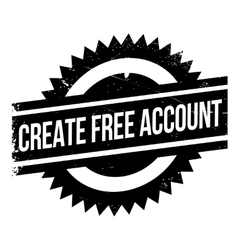 Create free account stamp vector