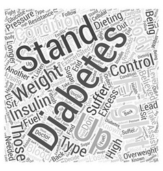 Dieting and diabetes word cloud concept vector