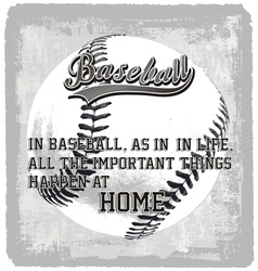 Baseball home vector