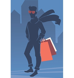 Mans shopping vector