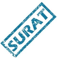 Surat rubber stamp vector