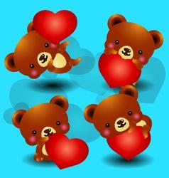 valentine bears vector image