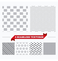 Lines geometric seamless pattern vector