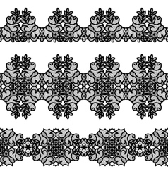 Black lace tape vector image