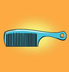 Blue hair comb vector