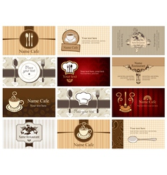 Business cards of food and drink vector