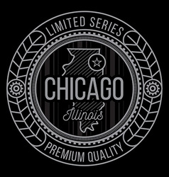 Chicago typography vector image