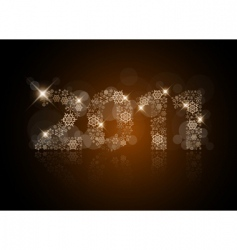 Christmas card 2011 vector image vector image