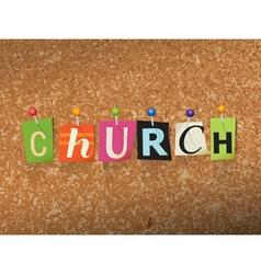 Church concept vector