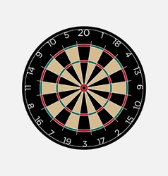 Classic dartboard isolated on white background vector