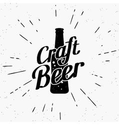 Craft beer black label vector