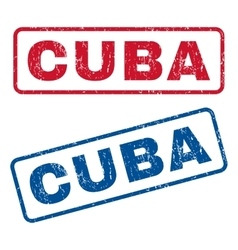Cuba Rubber Stamps vector image