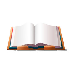 empty book on holder vector image