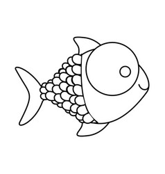 Figure happy fish cartoon icon vector