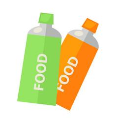 Food in tubes vector