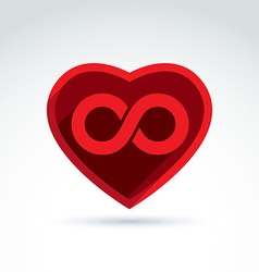 Forever love concept with heart and infinity vector