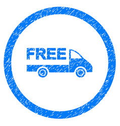 Free delivery rounded grainy icon vector