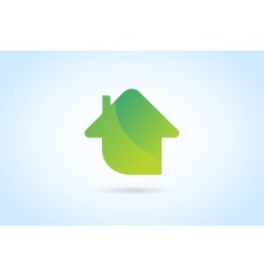 Green house home logo vector image vector image