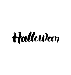 Halloween black calligraphy vector