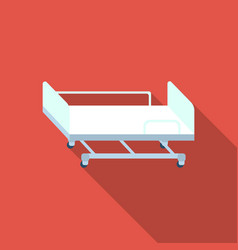 Hospital gurney icon flat single medicine icon vector