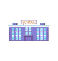 Huge school building vector