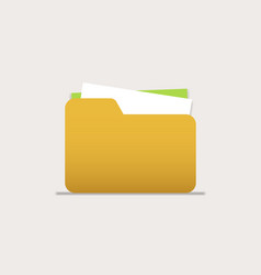 icon folders with documents for computer mobile vector image vector image
