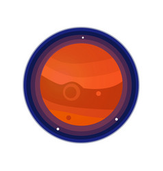 jupiter icon vector image